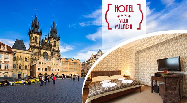 Fotka zľavy: Zážitky pre všetky zmysly čakajte v štýlovom pražskom Boutique hoteli Villa Milada**** blízko centra mesta už od 169 € pre 2 osoby. V cene polpenzia i súkromný vstup do wellness!