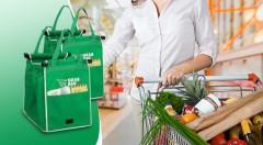 Zľava 55%: Praktická a ekologická nákupná taška s možnosťou prichytenia na košík len za 8,99 € - 2 kusy v balení. Zabudnite na igelitky, uľahčite si a zrýchlite nakupovanie!