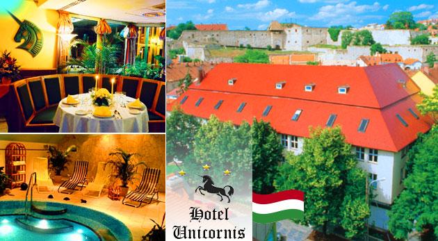 Fotka zľavy: Oddych v historickom kúpeľnom meste Eger v Hoteli Unicornis*** len za 103 € pre 2 osoby na 3 dni. Vychutnajte si polpenziu, neobmedzený vstup do wellness hotela a uvoľňujúcu masáž!