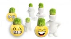 Zľava 60%: Veselí trávňaci - vtipná dekorácia v podobe originálnych postavičiek alebo smajlíkov len za 3,99 € s bonsajovou trávou na hlave, ktorú môžno zastrihávať do rôznych účesov. Skvelý tip na darček!