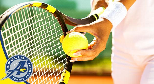 Fotka zľavy: Precvičte si svoju kondičku počas hry tenisu v krásnom prostredí tenisovej akadémie Apollo - prenájom tenisového kurtu už od 2,99 € na 1 alebo 5 hodín s možnosťou zapožičania loptičky a rakety.