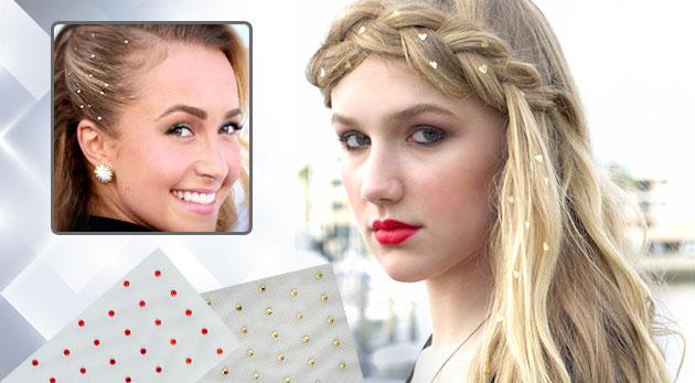 Fotka zľavy: Vyskúšajte štýlovú ozdobu pre vašu korunu krásy v podobe samolepiacich kryštálikov na vlasy len za 4,99 € - v cene 3 balenia. Vytvorte si úžasné letné účesy, ktoré vám dodajú jedinečnosť a šarm!