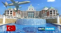 Zľava 40%: Letný letecký zájazd na krásnu Tureckú riviéru do luxusného hotela Litore Resort & SPA***** pri súkromnej pláži na 8 dní len za 659 € vrátane Ultra All Inclusive a využívania bazénov a SPA centra.