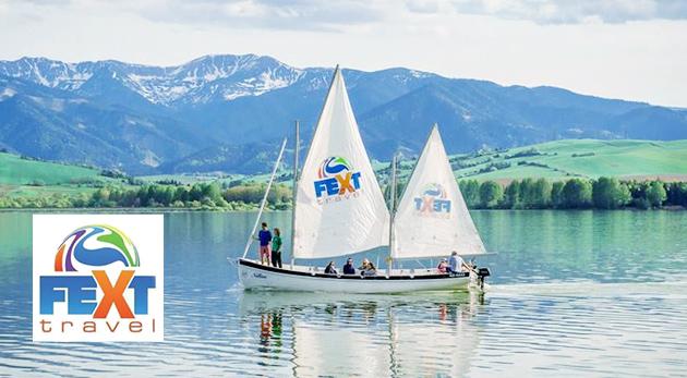 Fotka zľavy: Letná hodinová plavba po krásnej Liptovskej Mare na najväčšej vyhliadkovej plachetnici na Slovensku už od 4,99 € vrátane vyhotovenia fotografií z plavby. Užite si jedinečný zážitok na slovenskom mori!