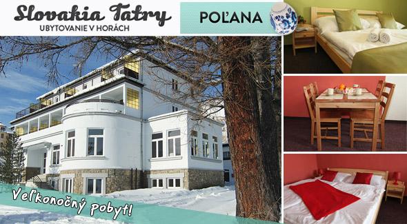 Fotka zľavy: Strávte Veľkú noc vo Vysokých Tatrách len za 89,90€. Pozývame vás do štýlového a komfortného Penziónu*** Poľana. Akcia je limitovaná do vypredania kapacity penziónu.