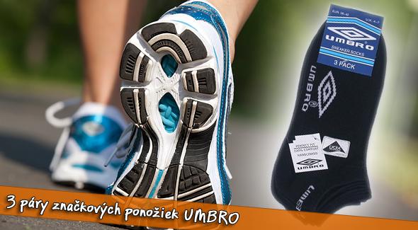 Fotka zľavy: Výhodné balenie: UMBRO - kvalitné členkové ponožky. 3 páry za 3,20€. Vyberte si z našej širokej ponuky veľkostí v dvoch farbách: čierna a biela alebo mix balenie. Vaše nohy budú ako v bavlnke.