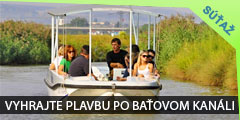 Vyhrajte plavbu po Baťovom kanáli zo Skalice do Sudoměříc